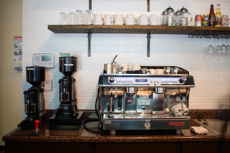 Details from inside Caffé Bella.