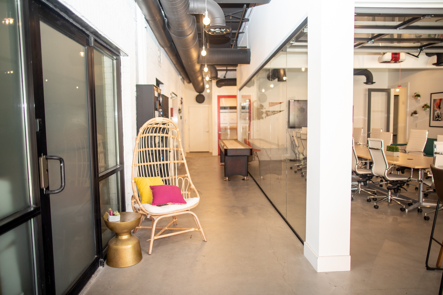 Interior of the Thrive Coworking space where Valor Coffee is located.