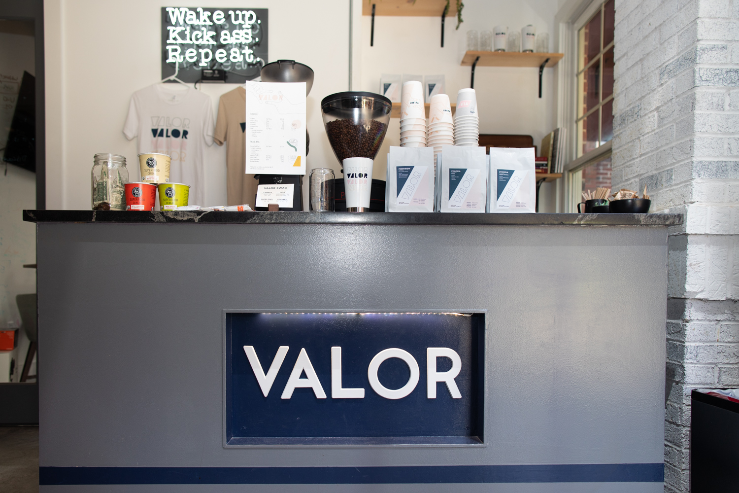 The VALOR logo—nicely illuminated.