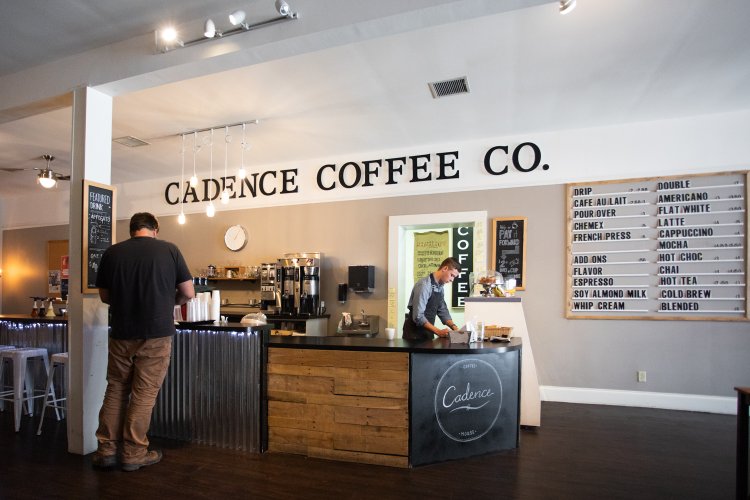 Cadence Coffee House in Chattanooga, TN.