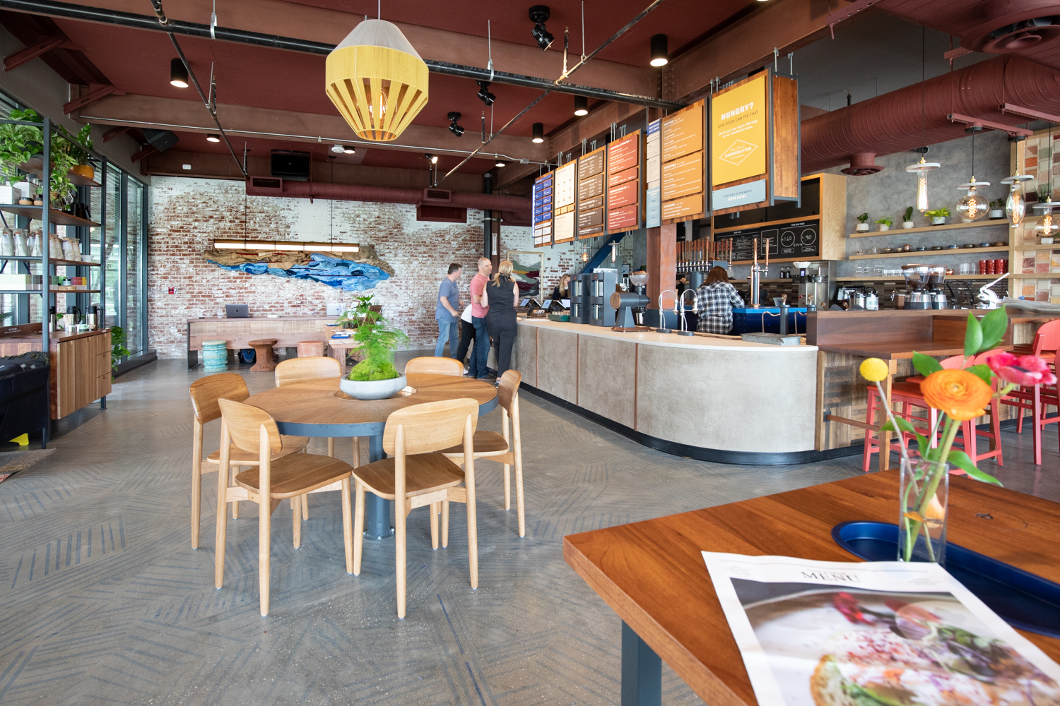 Interior view of Dairies Coffeehouse and Cold Brew Bar.