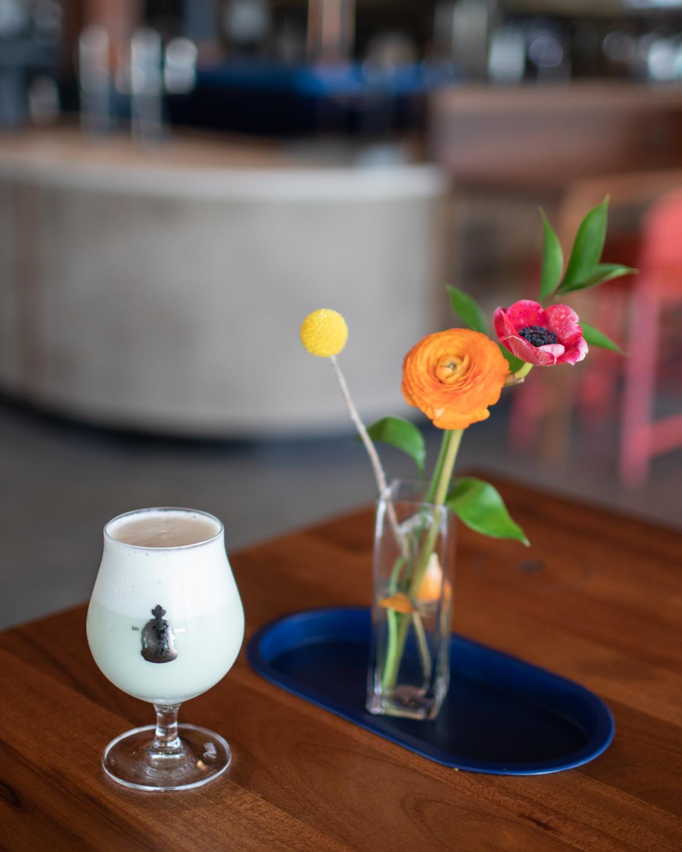 The nitro oat milk latte at Cold Brew Bar. Delicious!