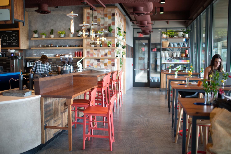 Interior vibes at Cold Brew Bar.
