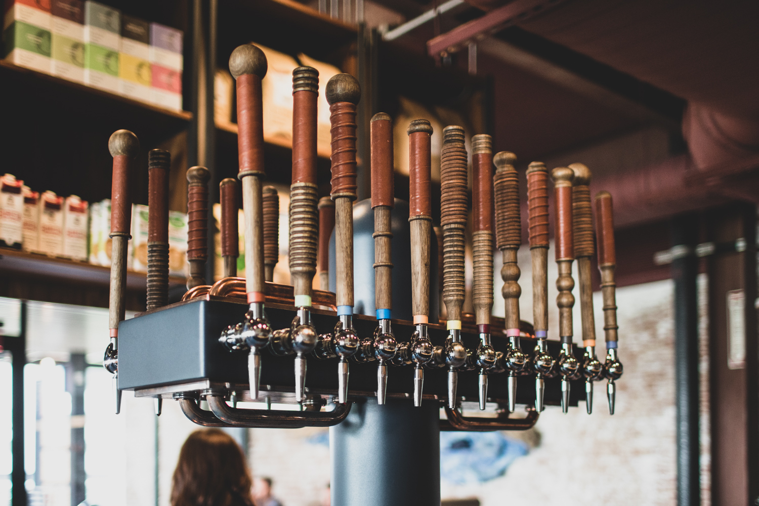 What's on tap? There are fourteen options at Cold Brew Bar (see above).