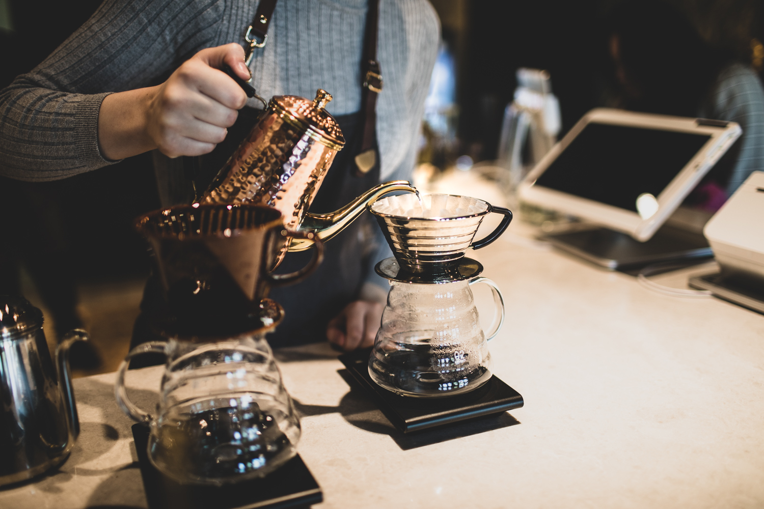 A pour-over coffee at Alchemist Trading Co.