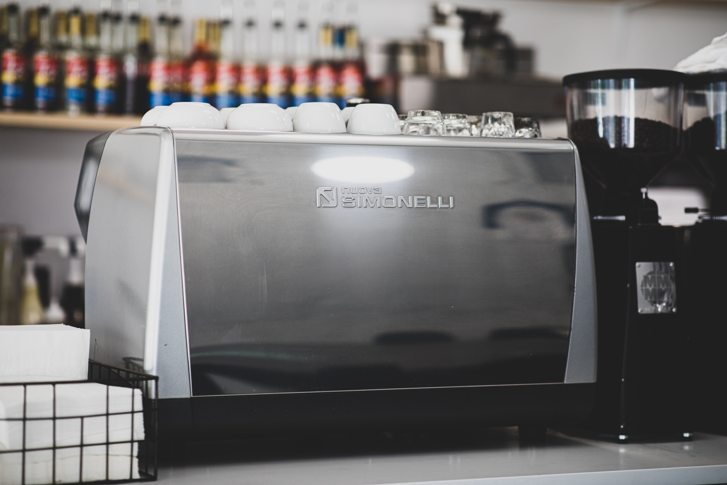 Tools of the trade:  Nuova Simonelli  espresso machine.