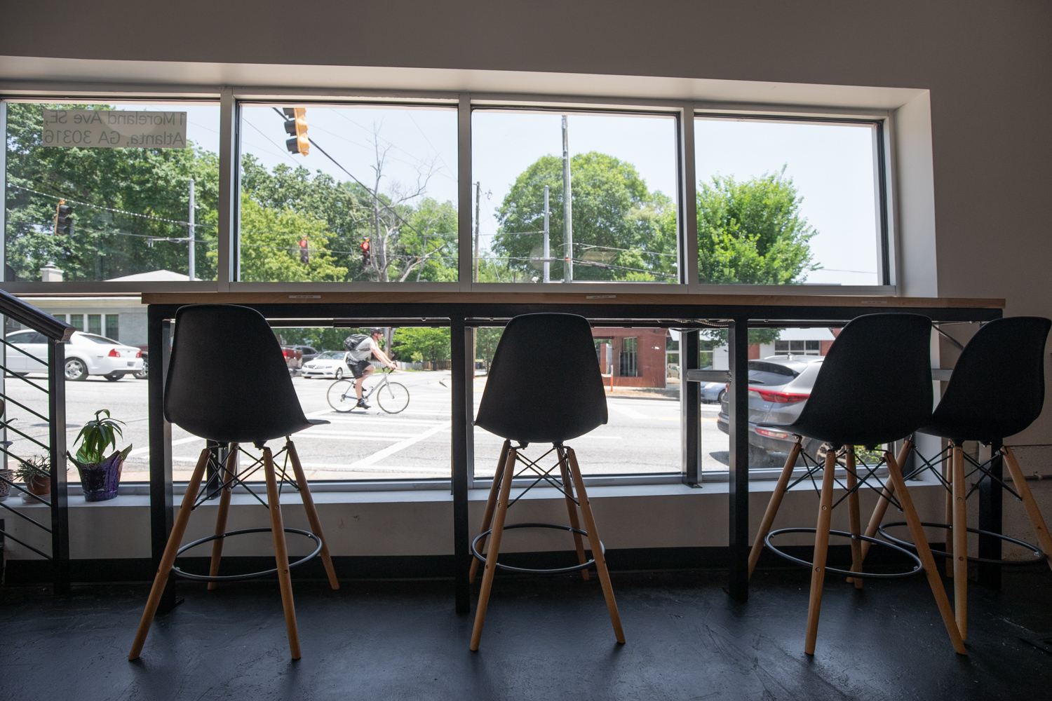 A coffee bar at Hodgepodge Coffeehouse in Reynoldstown.