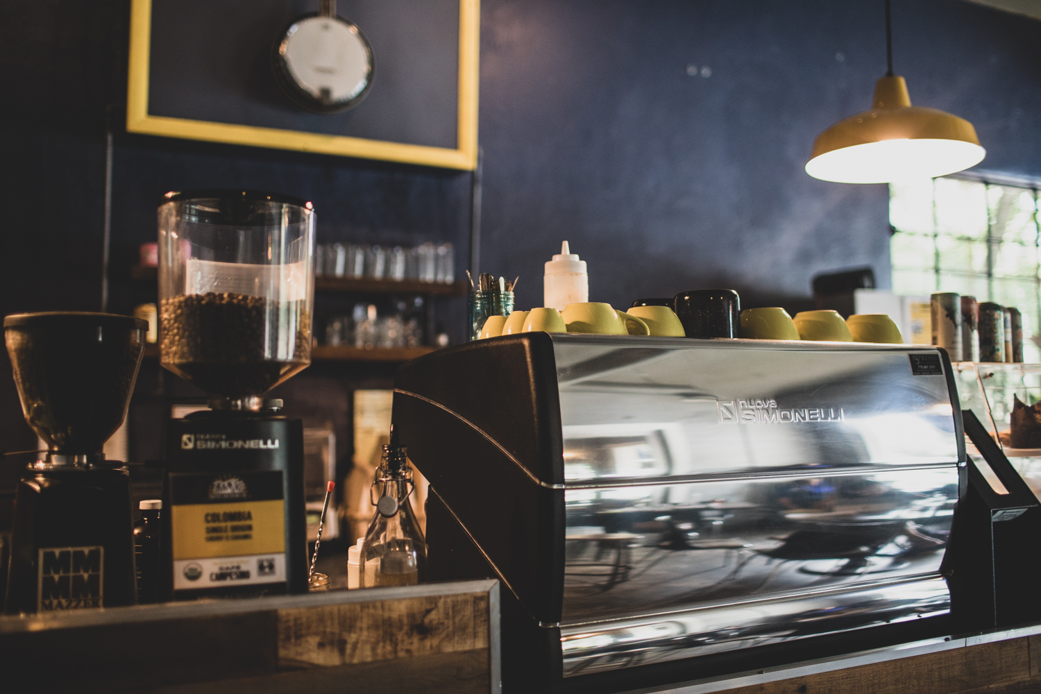 """The Nuova Simonelli espresso machine is one of the """"tools of the trade"""" at  Banjo Coffee ."""