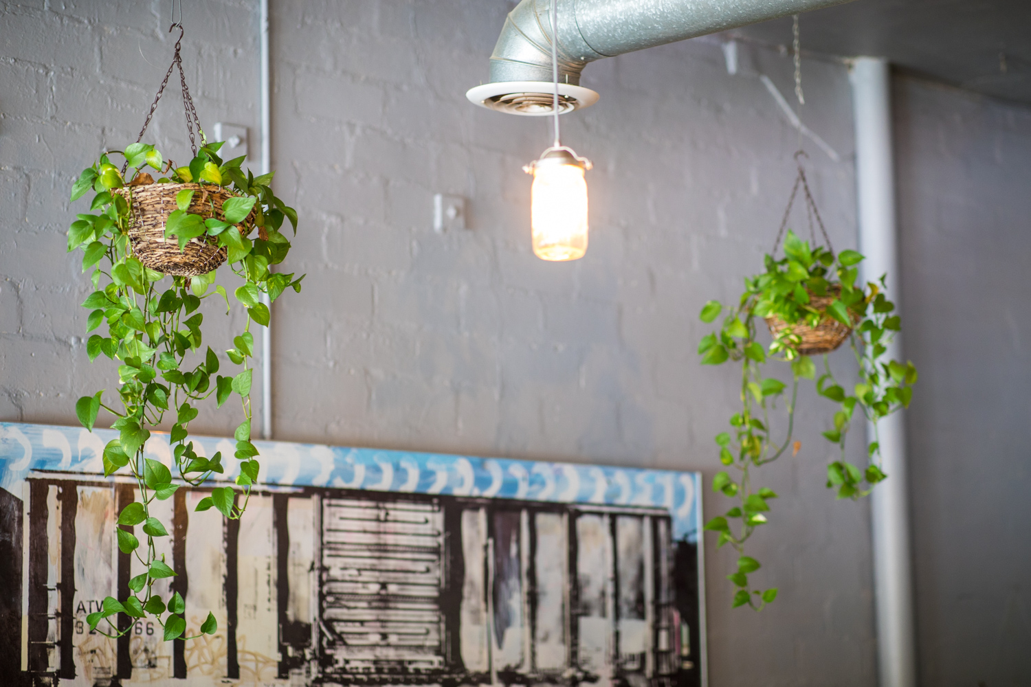 Details of the interior of Banjo Coffee.