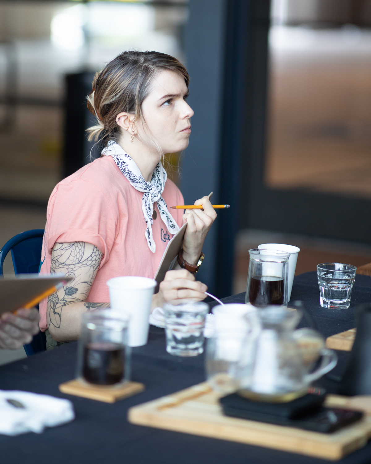 A moment of concentration by Katie at the U.S. Coffee Championships prelims.