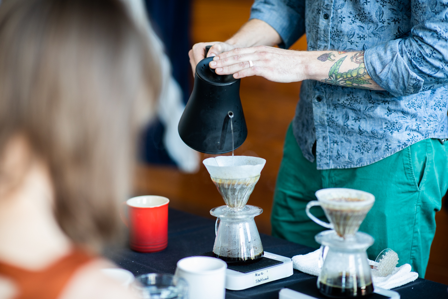 Competing in the Brewers Cup.