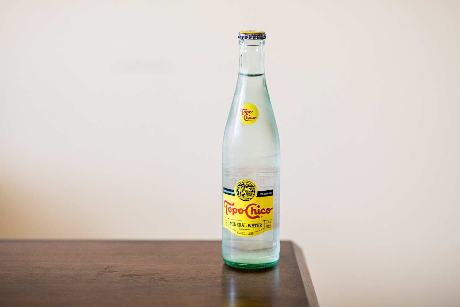 Topo Chico prior to consumption…