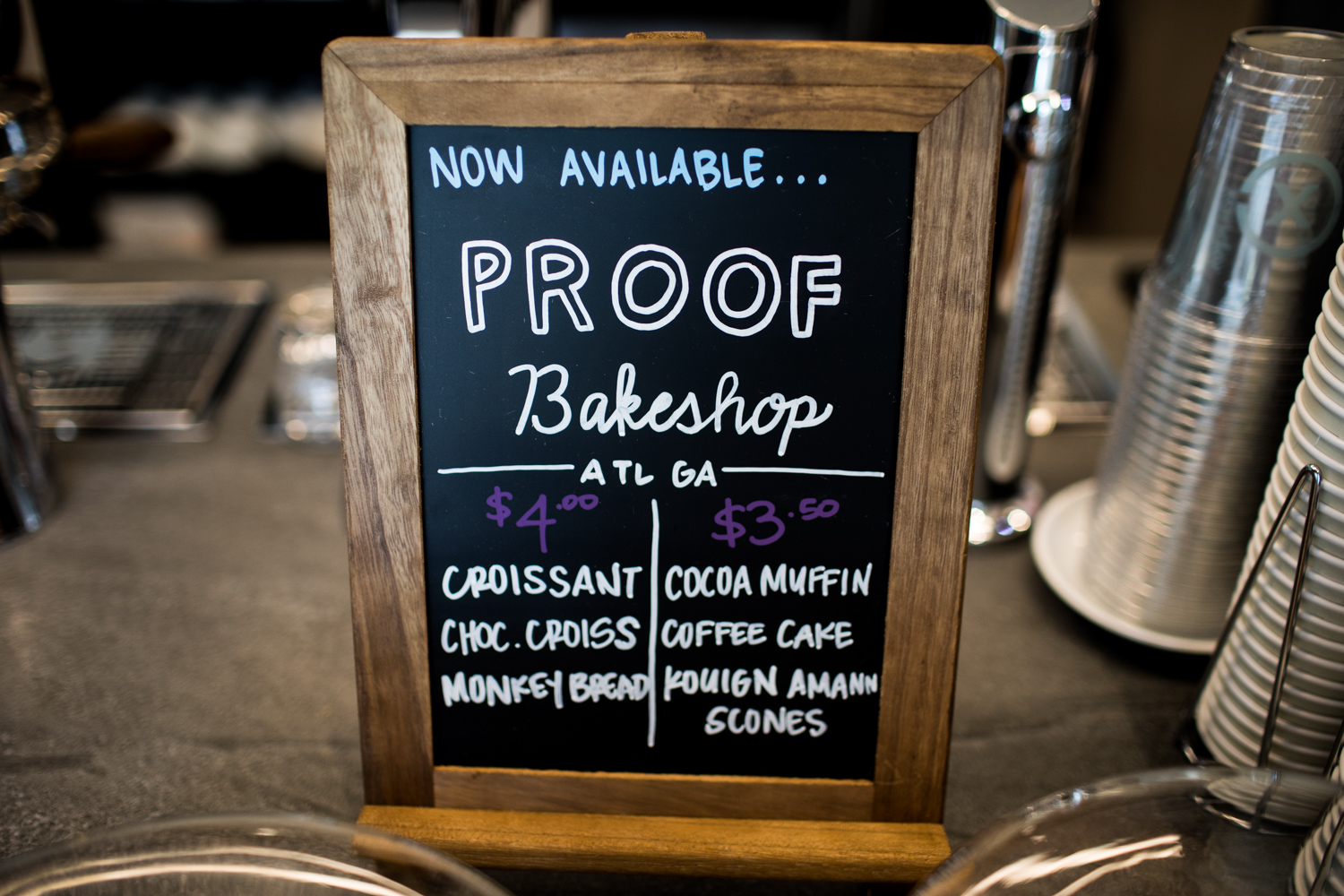 Pastries/croissants are in partnership with Atlanta's Proof Bakeshop.