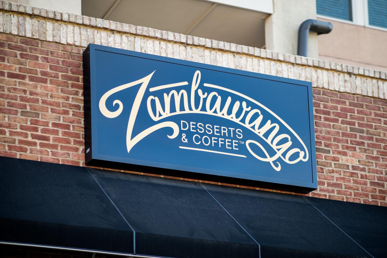 The sign for Zambawango.
