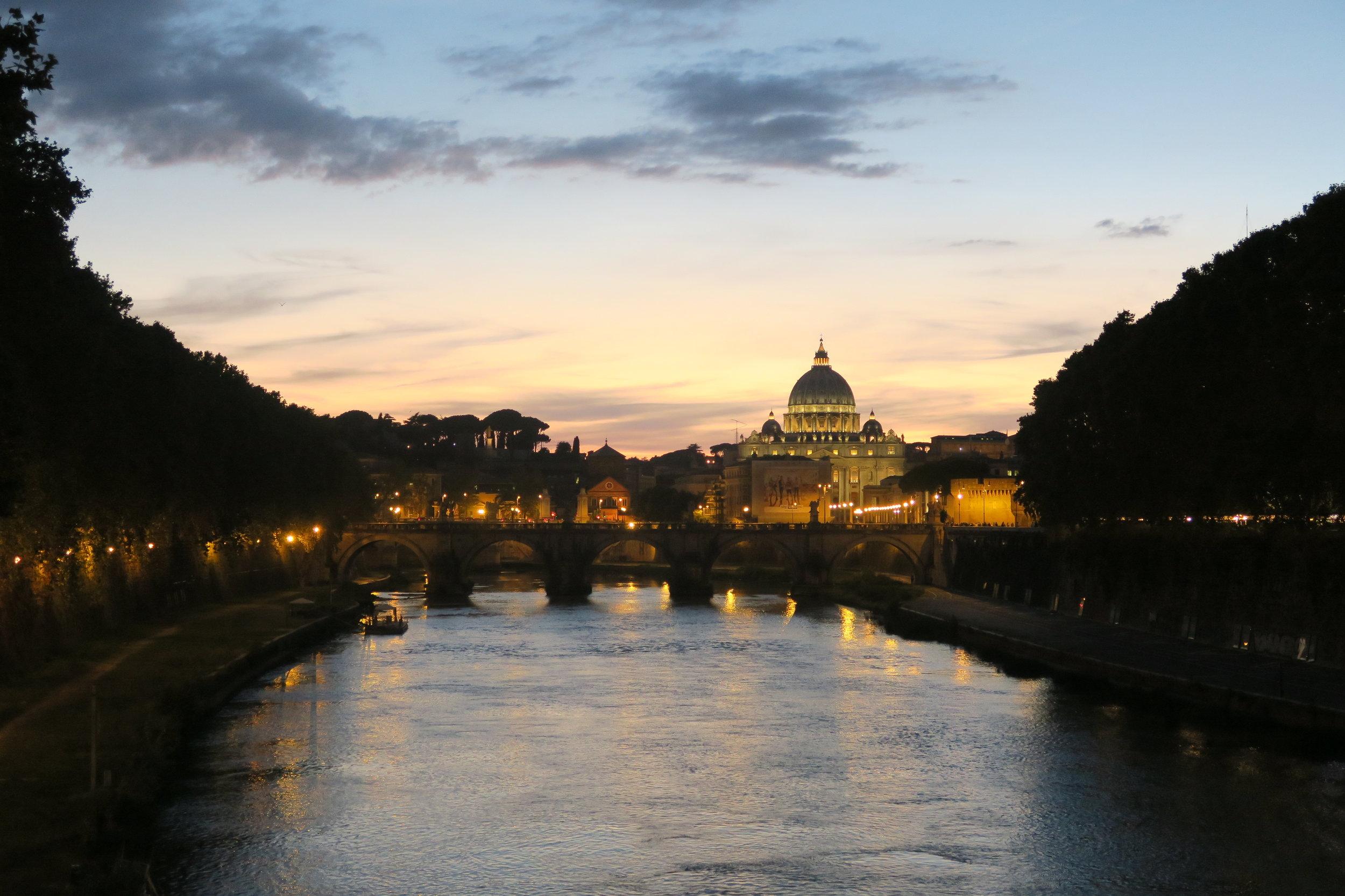 St. Peters Tiber at Night.JPG