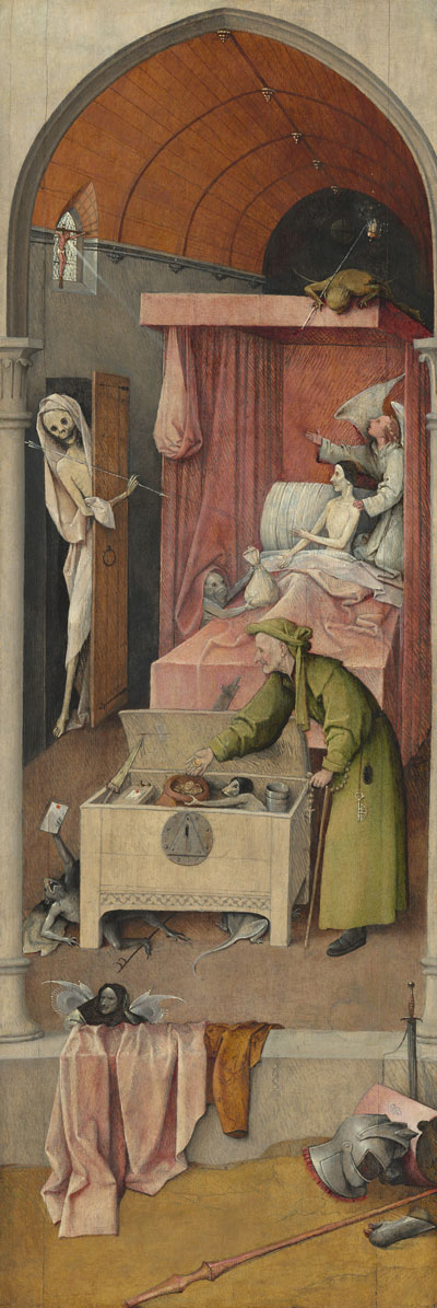 Death and the Miser, c. 1485/1490 Hieronymus Bosch, Netherlandish, c. 1450 - 1516