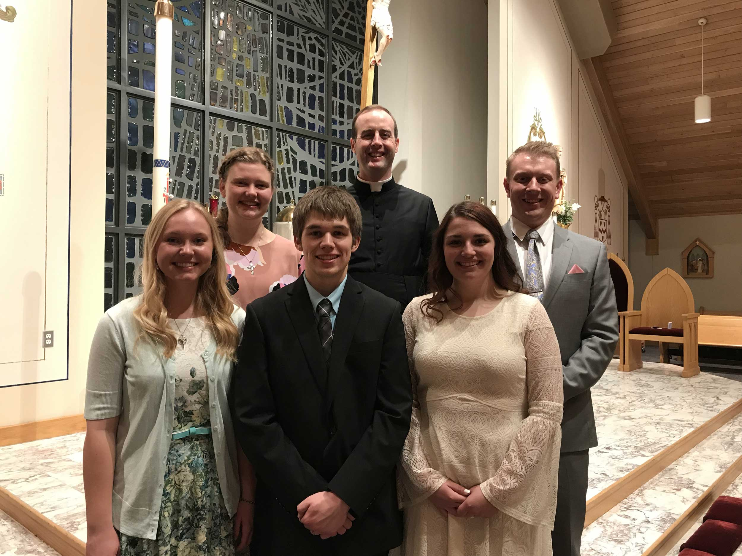 Newly baptized and confirmed with RCIA Chairs