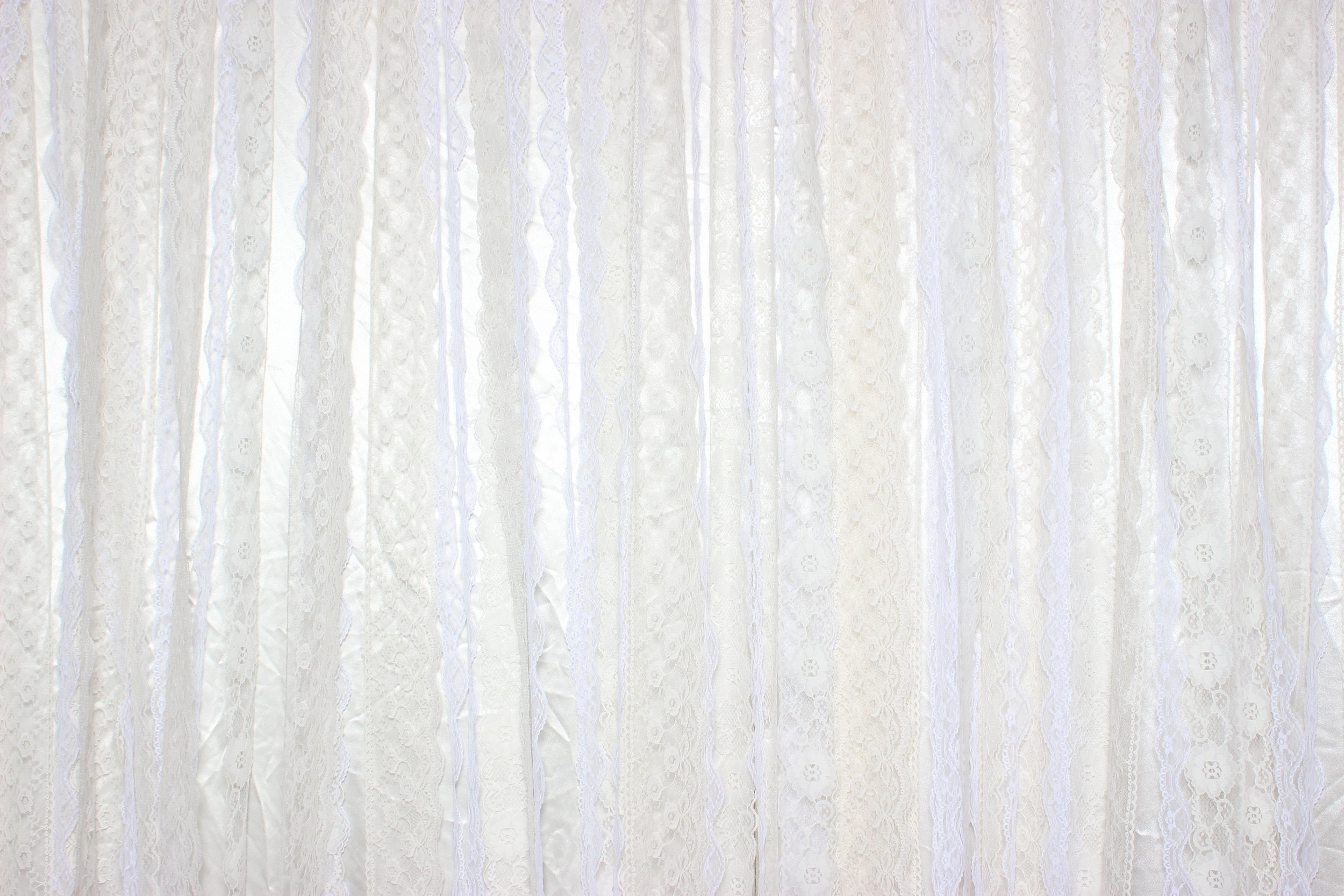 LACE RIBBONS (over ivory silks)