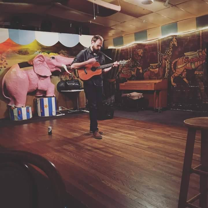 Mathew Wojcik performs at Carousel Lounge in Austin, TX