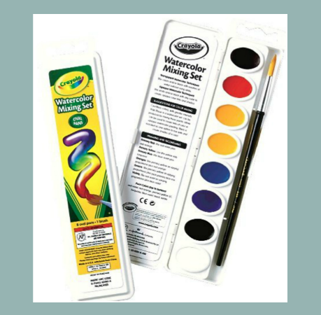 Crayola Watercolors & Brush