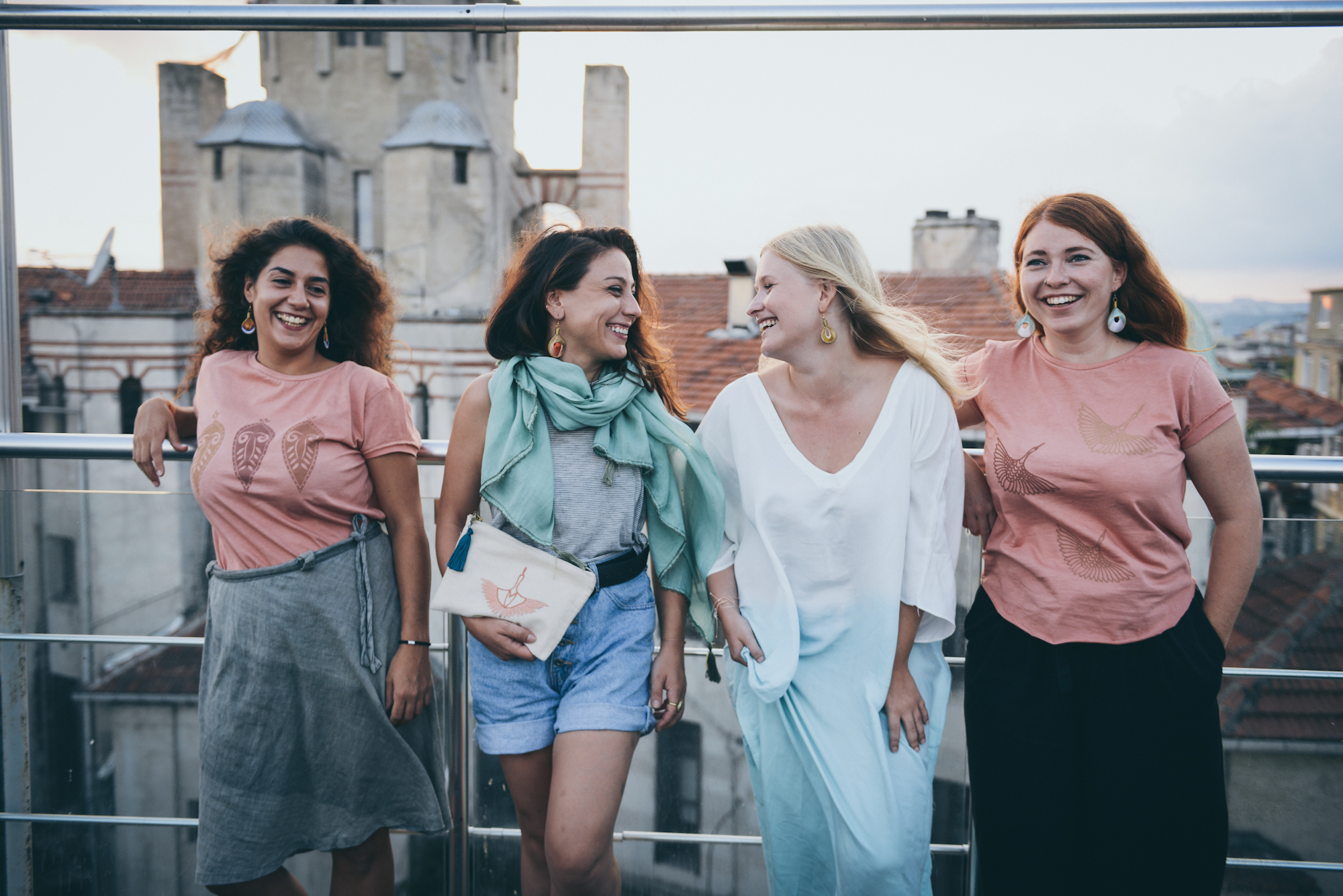Models from left to right: Konstantina, Lauren Simcic, Emilie Kleding Rasmussen, Aylin