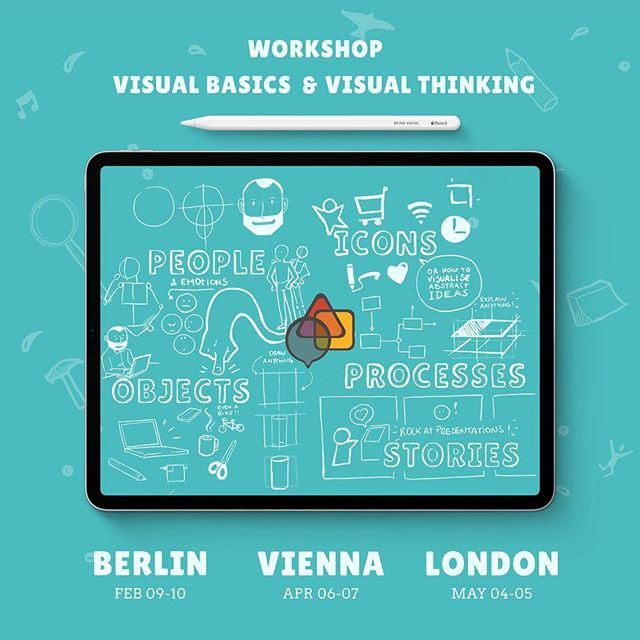 Being Visual Workshop in 2019!  Learn how to draw and how to be more visual. Two days workshop from Basics to Thinking.  Berlin | 09.02 - 10.02 Vienna | 06.04 - 07.04 London | 04.05 - 05.05  #visualthinking #visualthinker #designthinking #beingvisual