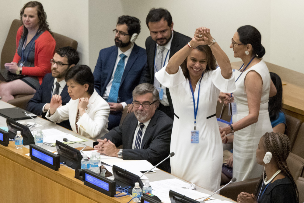 At the UN, New Treaty Banning Nuclear Weapons Adopted by 122 Nations - PassBlue.com, July 2017