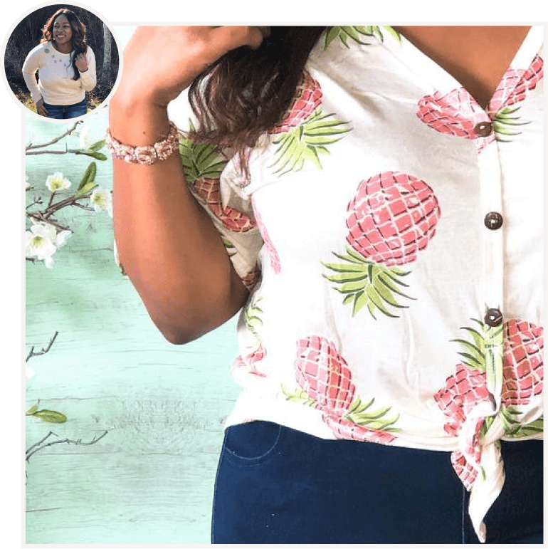 Pineapple Front Tie Top from B. Effortless by Britney.png