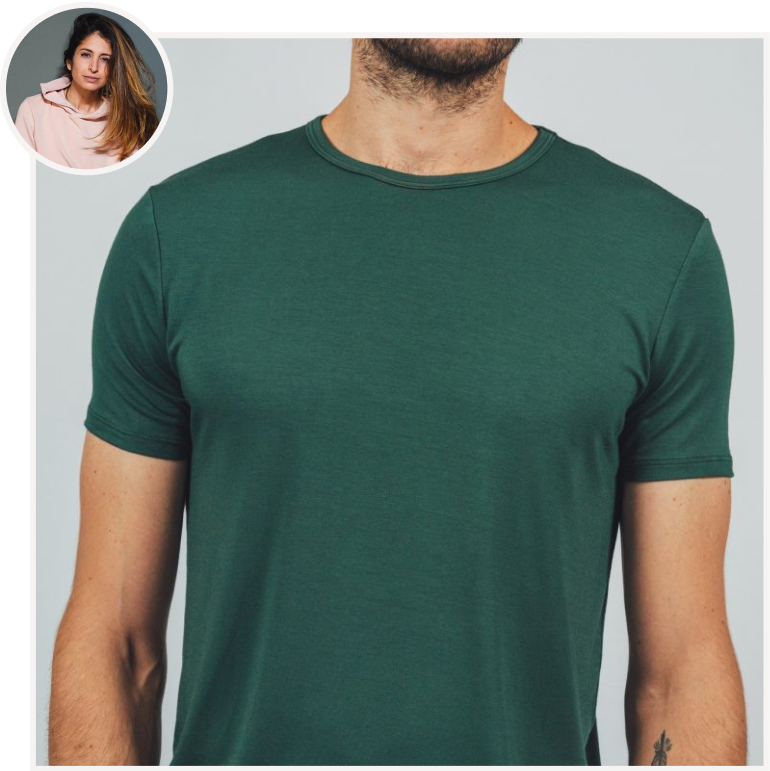 Men's T-Shirt in Forest from Softwear by Sabrina