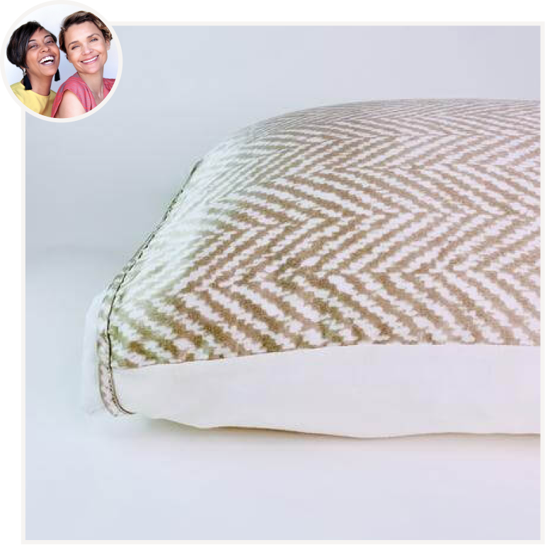 Champagne & White Silk Pillow Sleeve from Silked.co by Phoenix + Sandra.png