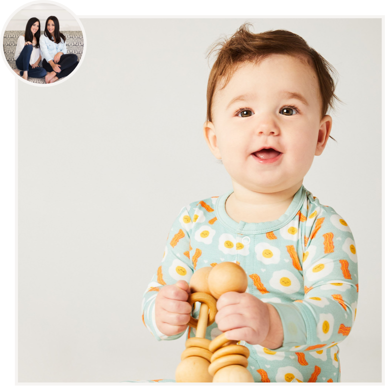 Bacon and Eggs Footie from Clover Baby & Kids by Shannon + Nikki.png