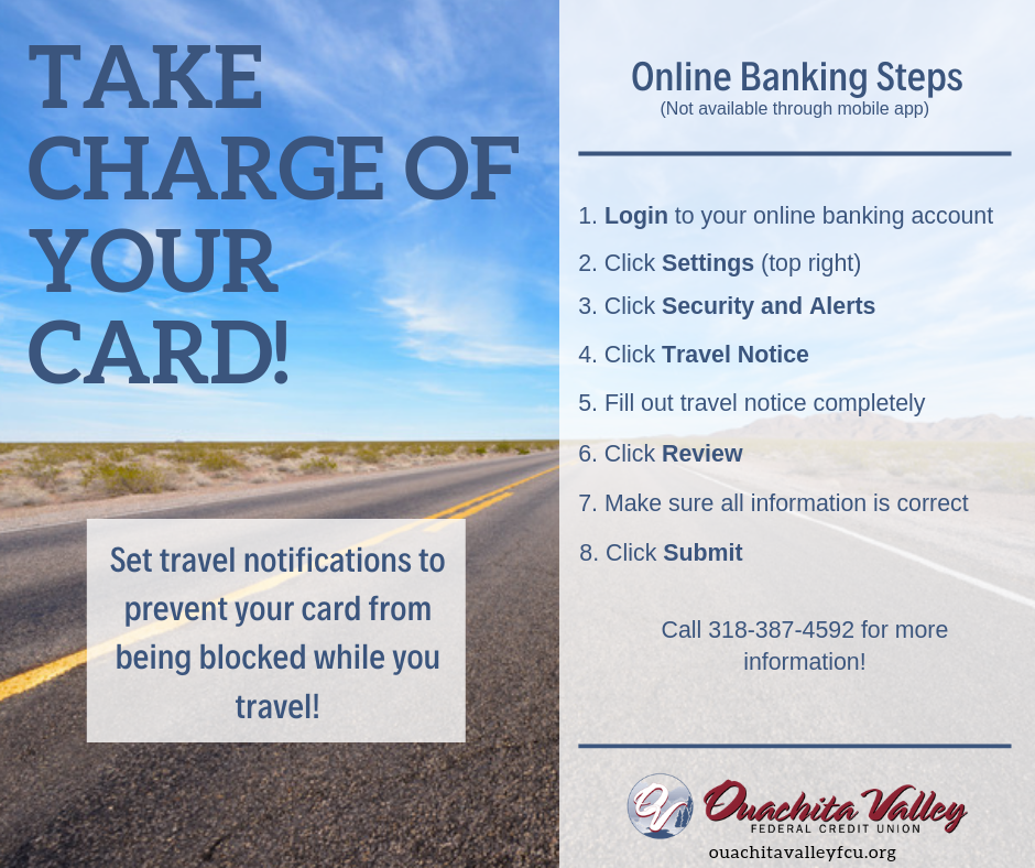 Take charge of your card.