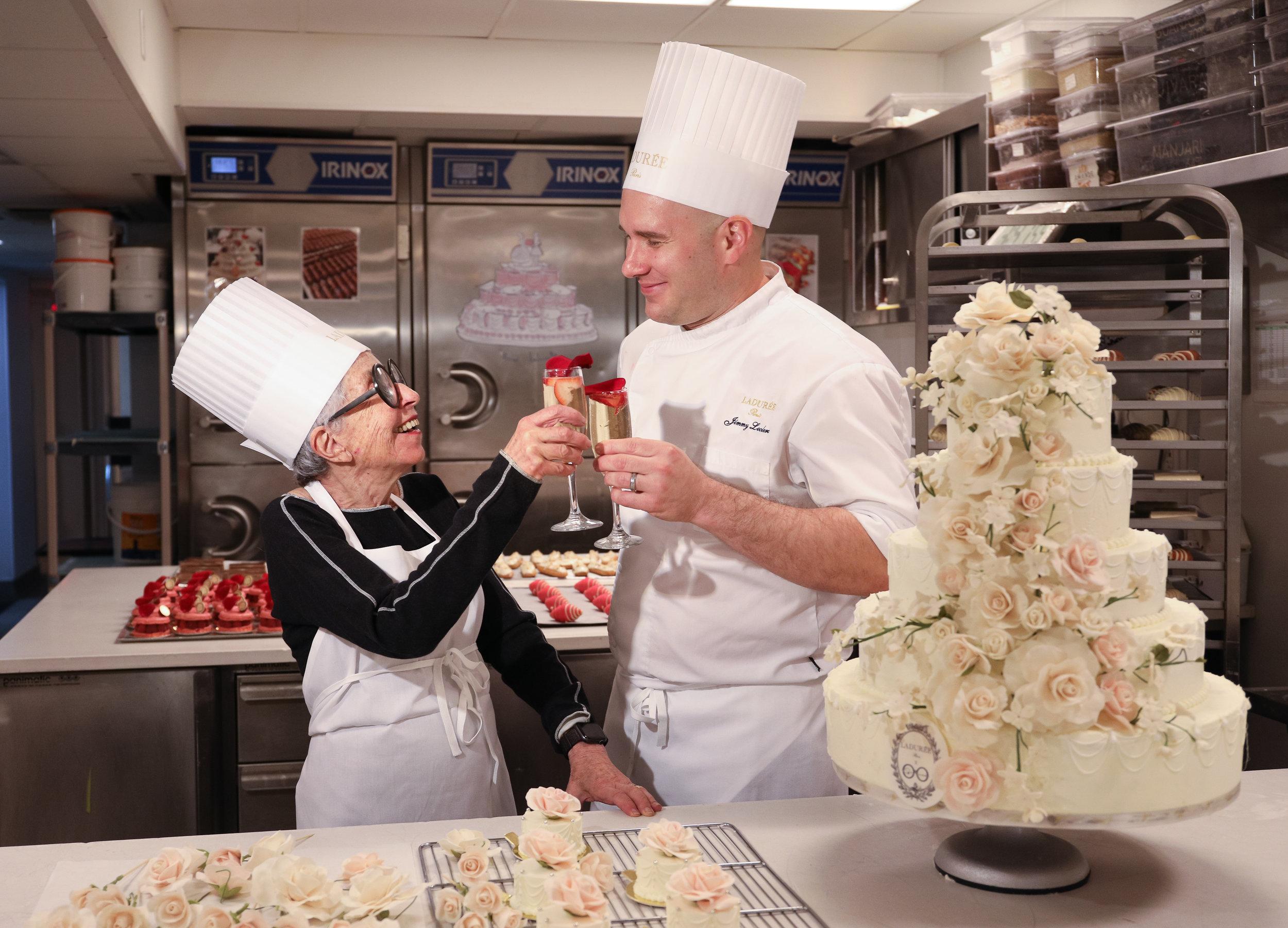 Sylvia Weinstock & Ladurée Executive Pastry Chef Jimmy Leclerc