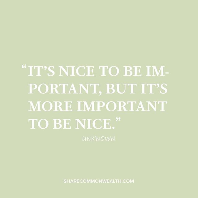 """It's nice to be important, but it's more important to be nice."" -Unknown . . . . . #clothes #fashion #readystock #charity #givingback #shopping #smallbusiness #stlouis #lookbook #lookoftheday #instastyle #instafashion #instadaily #style #ootd #outfit  #mylook #stlouisgram #bellacanvas #makeadifference #sharethewealth #commonwealth #sharecommonwealth #diversity #nonprofit #generosity #feelgoodfriday #fridayfeeling #friday #tgif"