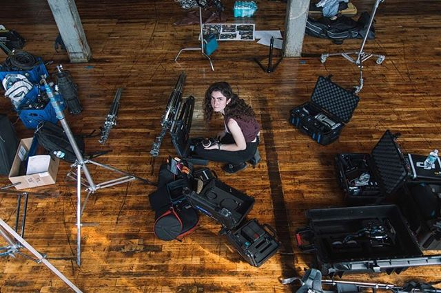 """Last August, we shot a music video for @abandcalledlucy on a hot summer's day. There was only one kind of """"AC"""" on set... @caitschmitz. 📸: @krhphoto"""