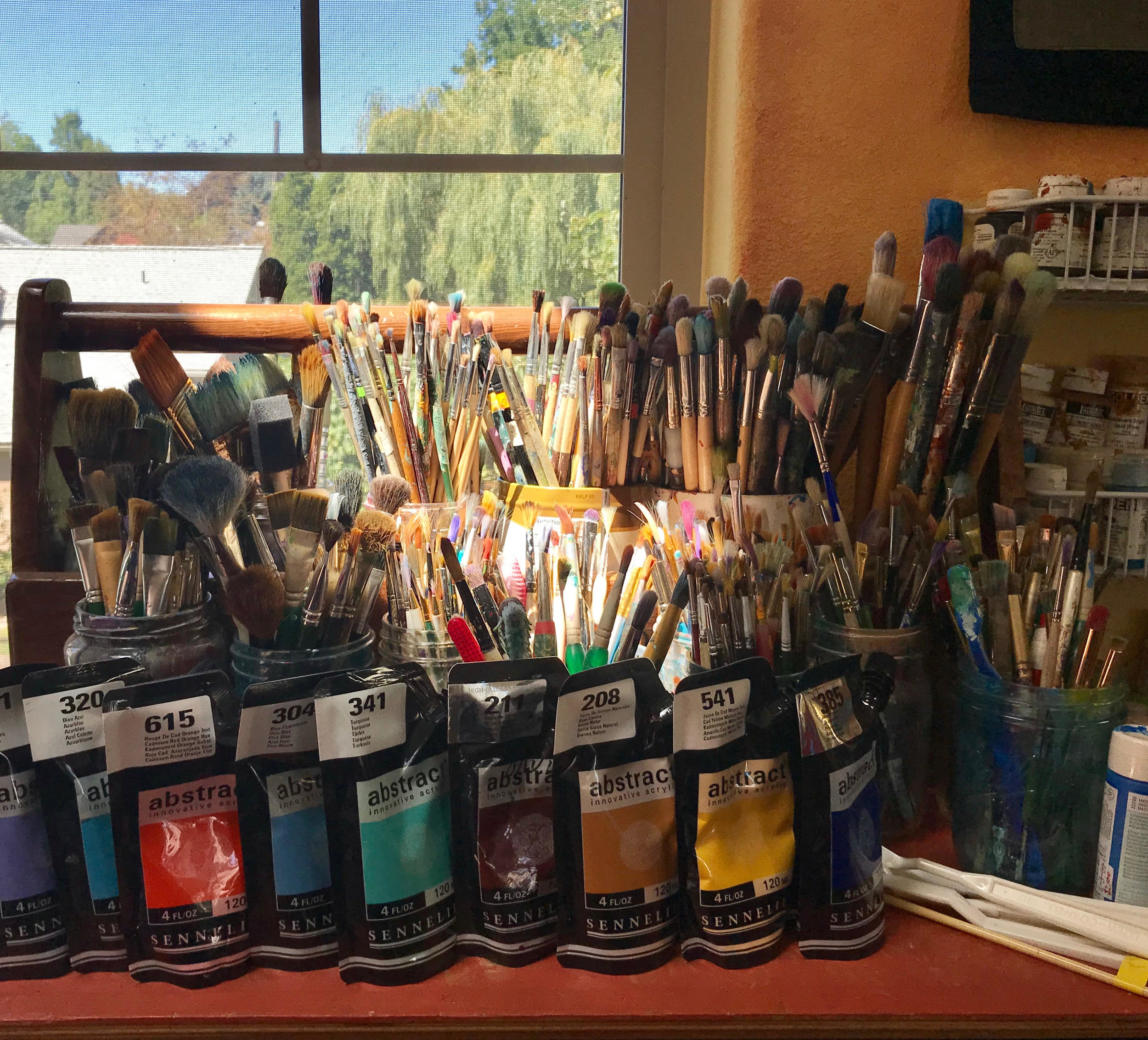 open studio - Gypsy Heart Studio offers a quiet, well lit space for your creativity.