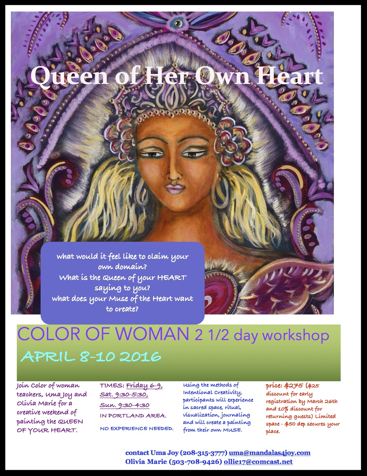 queen of her own heart -