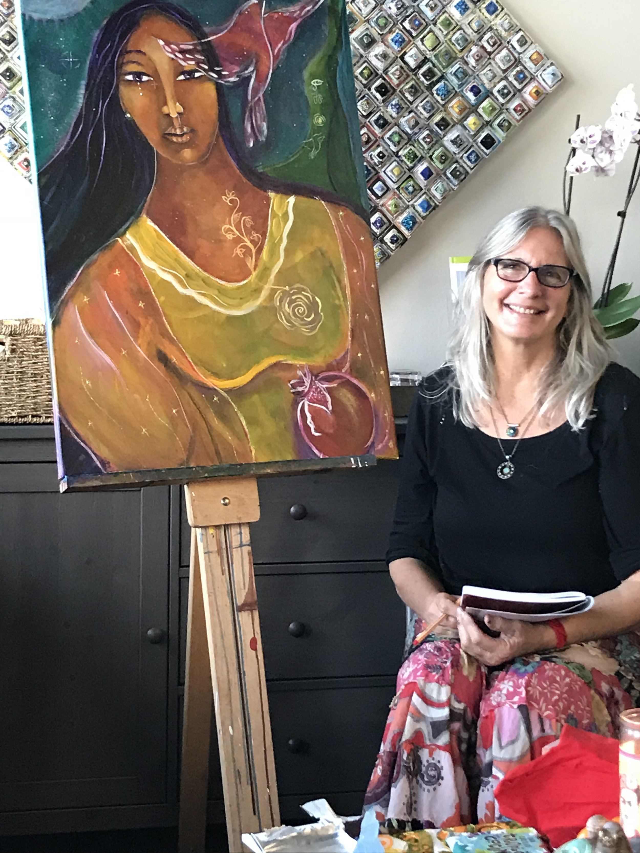 individual sessions with Olivia - Whether you're a regular painter or a new artist Olivia Marie will support and guide you through the creative process through one on one mentoring.