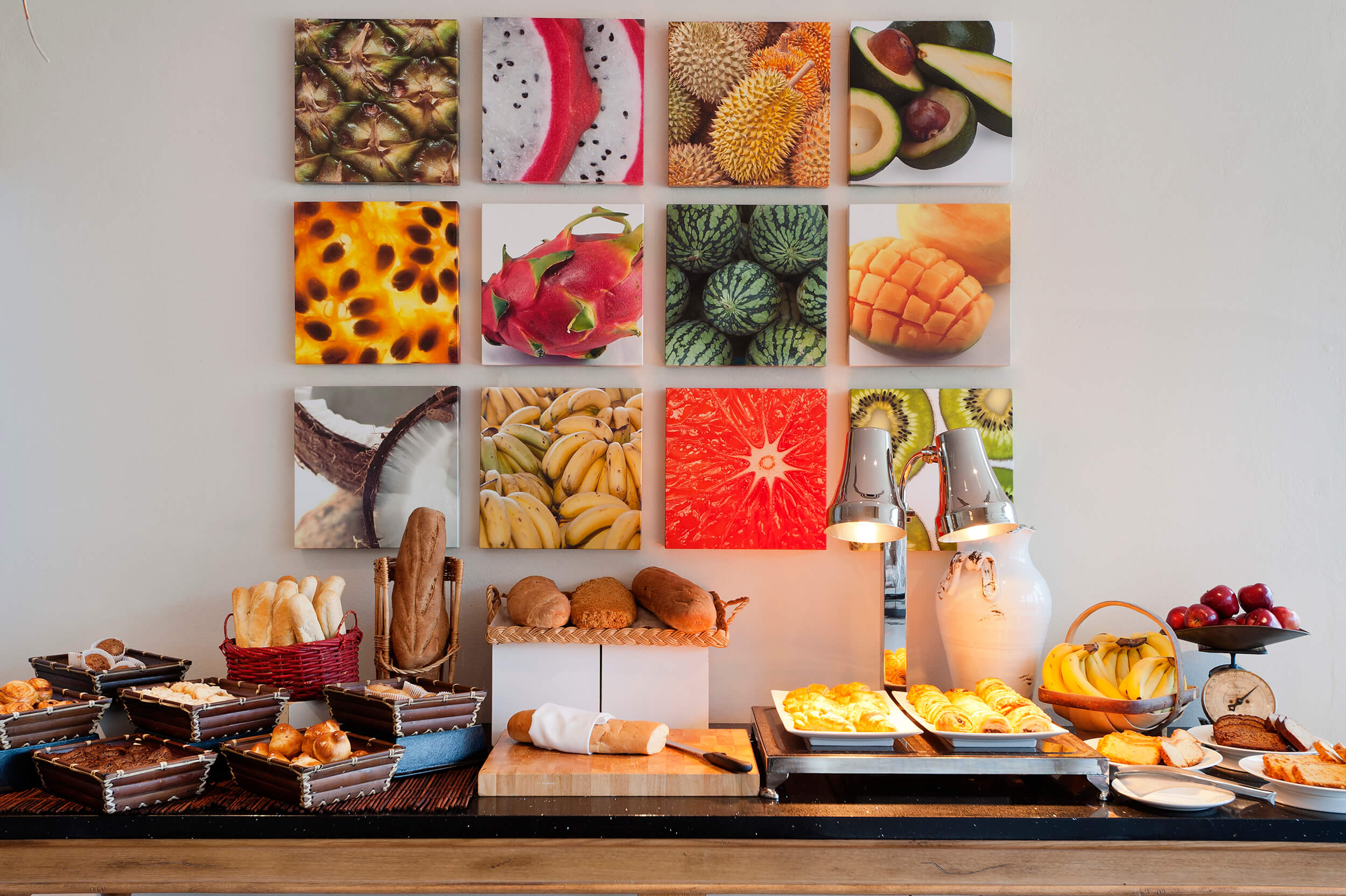 Island Resorts<strong>Custom images printed and stretch for breakfast buffet</strong>