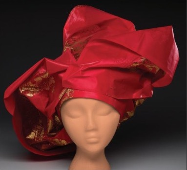 Gele, from the exhibition,     African Headwear: Beyond Fashion,  Dallas Museum of Art   .
