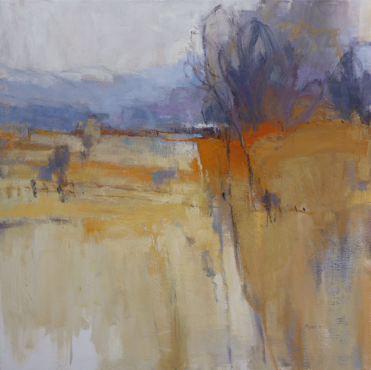 As Pastures Change  112 x 112cms  oil on canvas