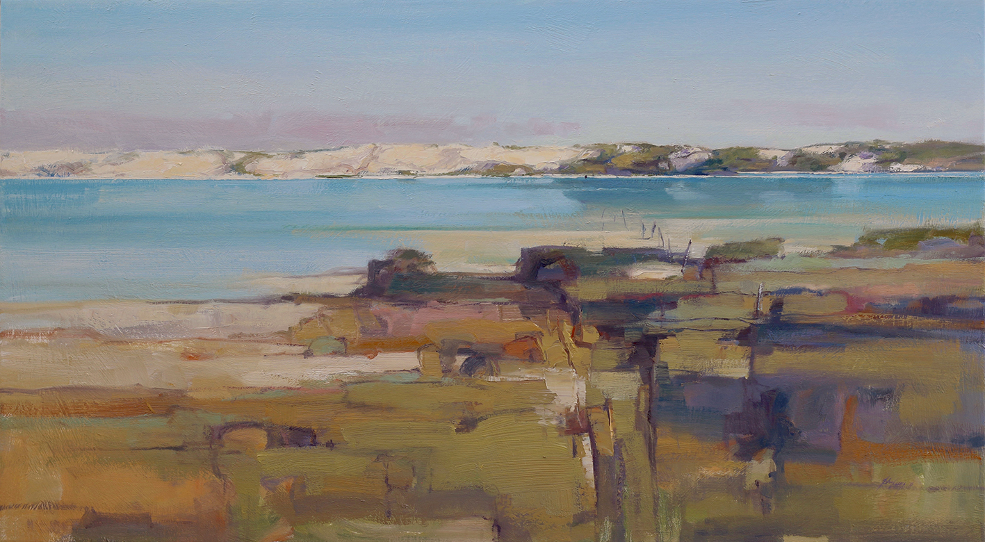Near Parnka Point - Coorong   76 x 137cms   oil on canvas           SOLD