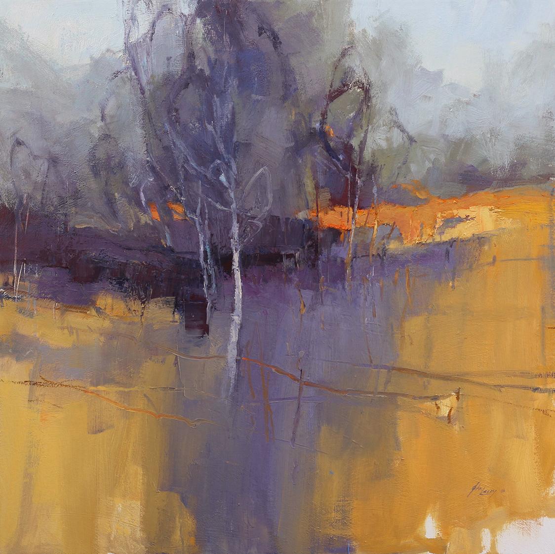 I Came Across Shadows - 2   91 x 91cms   oil on canvas