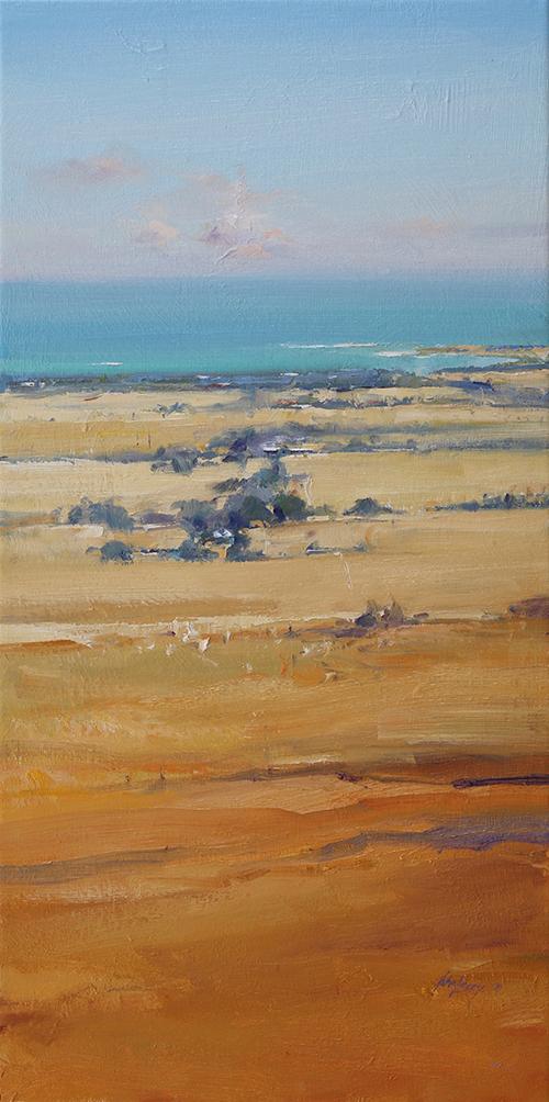 Towards Basham's   70 x 35cms   oil on canvas             SOLD