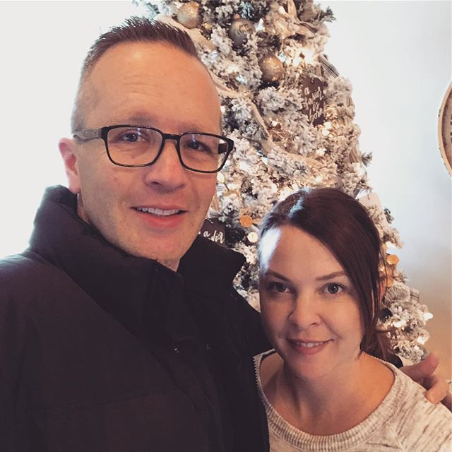Here's a quick pic of Beth and I this eve as we were running out the door to our Sunday School class Christmas party. I can't believe we are approaching 20 years! - I'm a super blessed man. - #christmas #marriage #bff #blessed