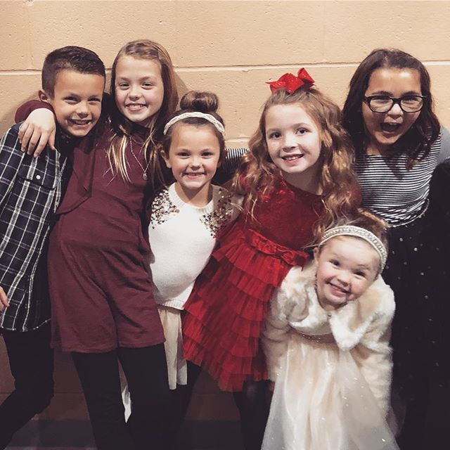 Here are some cousins having fun after their church Christmas program tonight! #cousins #christmas #kidmin
