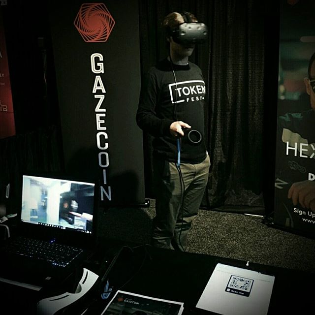 We had a great time demonstrating all the Gaze Coin capabilities at #tokenfest!  Gaze Coin is an attention-economy token monetizing 'gaze' in digital reality (VR/AR). Gaze Coin is the premier way for artists, creators and brands to mint their own tokens for use in their own VR/AR worlds! Watch this space for DON DIABLO #HEXCOIN ICO launch 🔥🔥 • • • • #vr #ar #xr #crypto #cyberspace #oculus #gearvr #htcvive #readyplayerone #ethereum #digitalreality #tokenfest #tokenfest2018 #mixedreality #techstartup #dreamchannel #immersivemedia #dondiablo #token