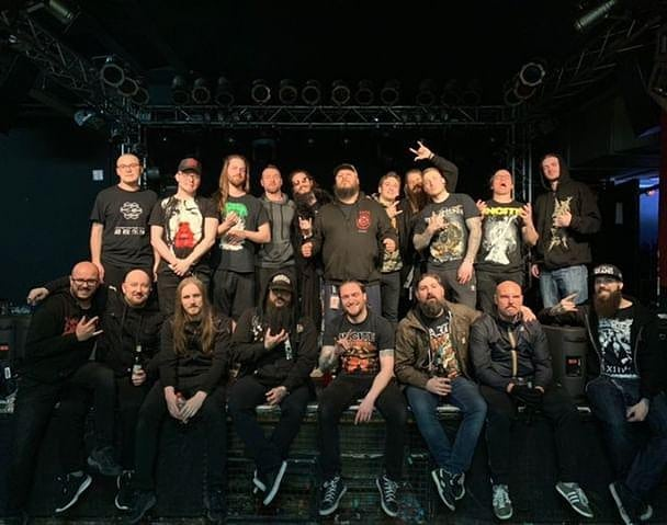 And that's a wrap! Had an absolutely amazing time touring with @cryptopsyofficial and our new best friends @ingested. Special thanks to our US brothers @inciteband, the Swedes in @demonicalofficial and the great guys in @nightrageofficial for being apart of this package as well! And of course a huge thanks to @megarecording for keeping us all under control. Can't wait to see all of you again . . . . . #cryptopsy #ingested #gloryholeguillotine #nightrage #incite #demonical #craftbeer #thankyousomuch #deathmetal #europe #europeantour #madtourbooking #grindcore #grind