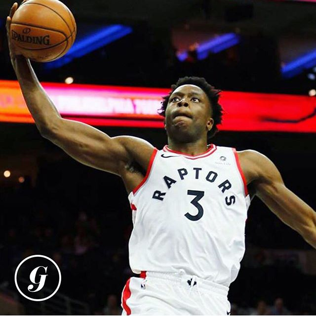 HE'S BACK! 💃🏻 • Good news @raptors fans. Forward OG Anunoby is back on the court tonight for the first time this post-season after having emergency appendectomy surgery in early April (talk about bad timing, eh?). • This is a BFD as OG is a huge part of the Raptors bench mob (players who don't start) and plays some really great defence.🏀 • Raptors are up 1-0 over the Golden State @warriors. Tip-off at 8pm ET. Who ya got tonight?! #thegist • P.S. full recap on this and much more in tomorrow's GIST newsletter! Keep an eye out. 👀