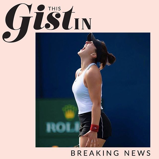This GIST in! Teenager @biancaandreescu_ just became the first Canadian woman in 50 years (!!!) to win the Rogers Cup after Serena Williams retired due to injury.🇨🇦#thegist